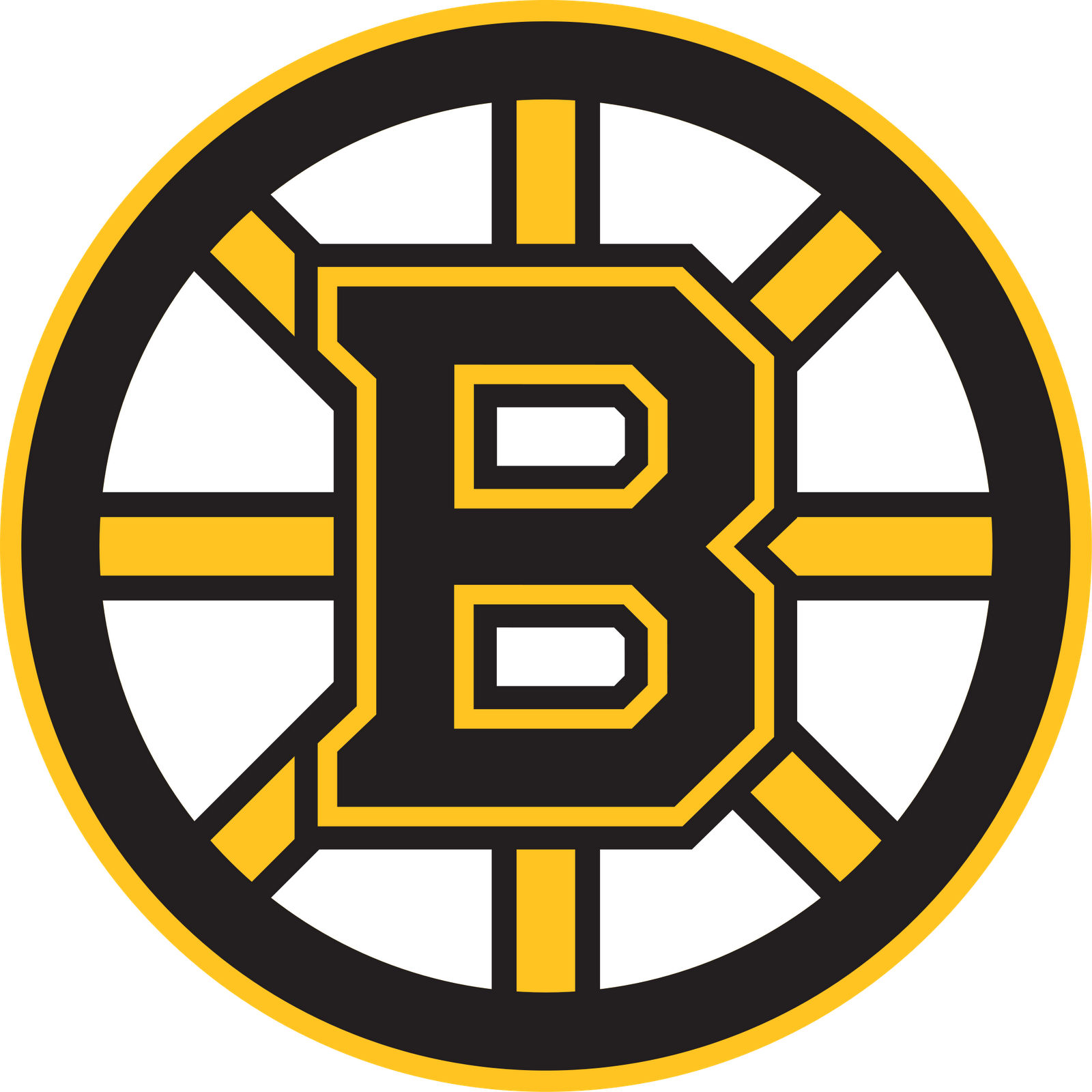 boston bruins logo black and white NHL – Hockey