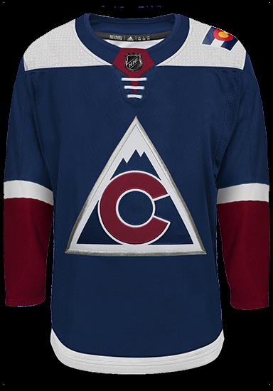 Colorado Avalanche Adidas Authentic Third Alternate NHL Hockey Jersey