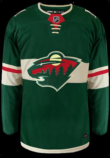 Minnesota Wild Adidas Authentic Home NHL Hockey Jersey