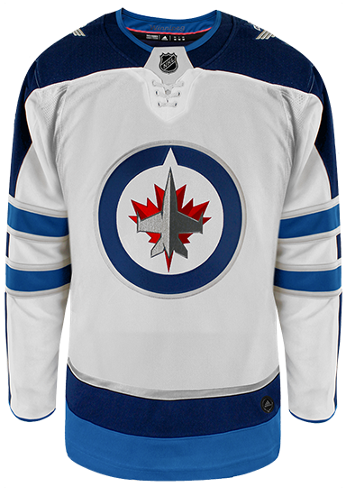 new styles ef3d4 f8c8a Winnipeg Jets Adidas Authentic Away NHL Hockey Jersey